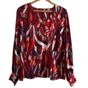 Halogen Women's Long Sleeve Blouse Size XL